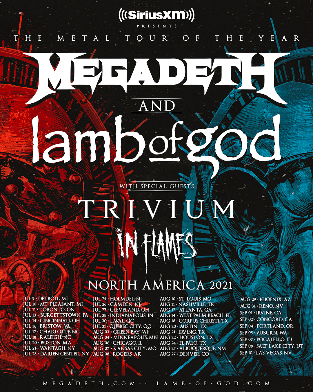 Megadeth The Metal Tour of the Year – New Dates!