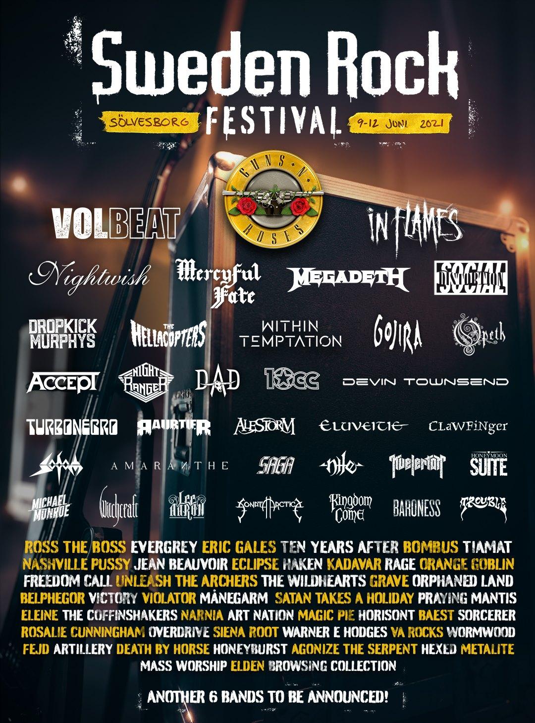 Megadeth Megadeth to Perform at Sweden Rock 2021