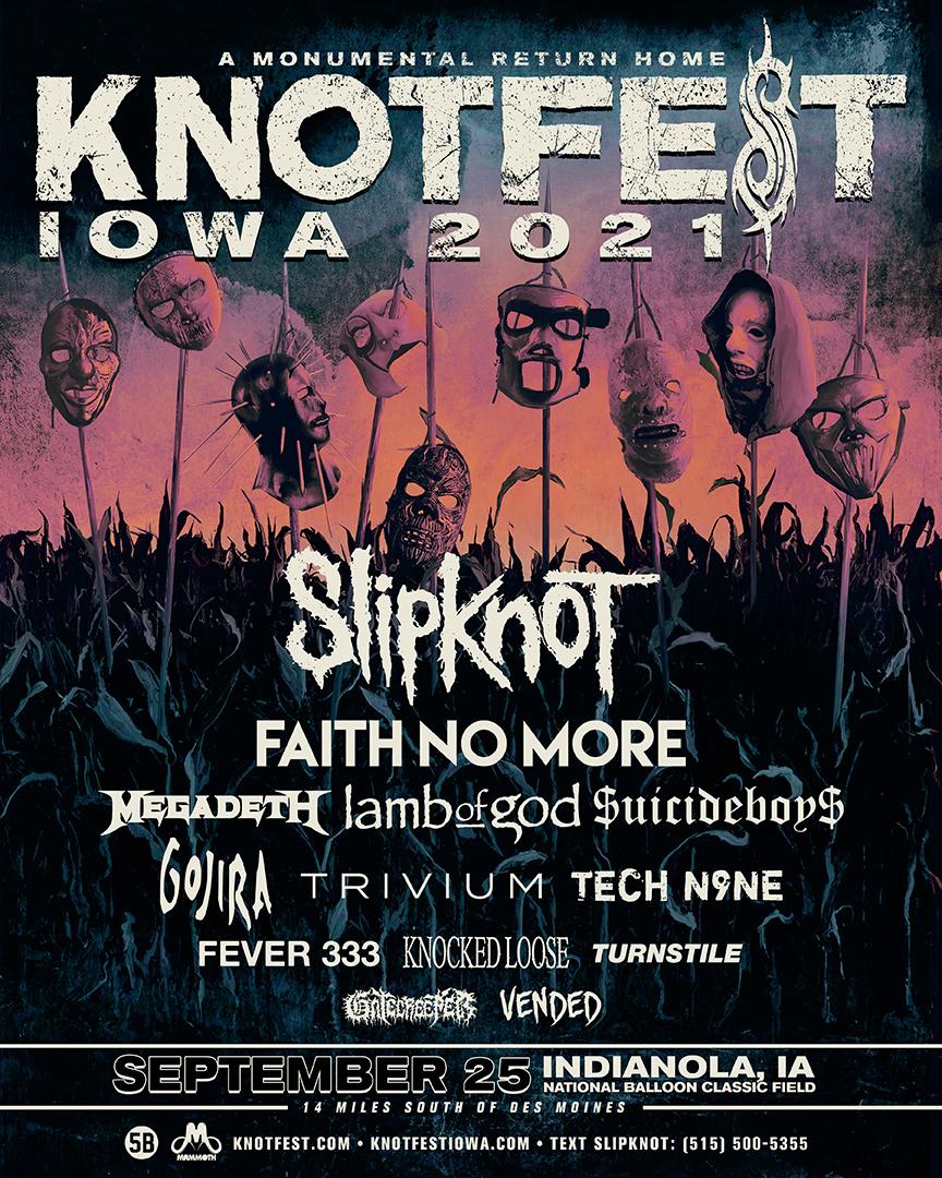 Megadeth Knotfest Iowa